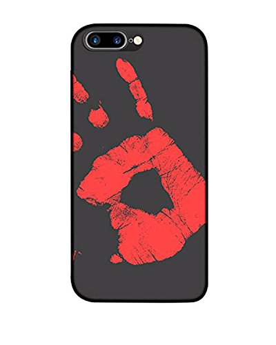 iPhone 6s/6 Case(4.7Inch),venter®Magical Fashion Color Changing Thermal Sensor Fluorescent Thermal Heat Induction Matte Hard PC Back Case black
