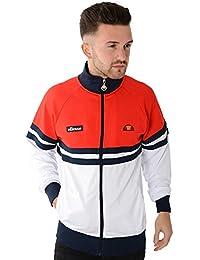 Ellesse Homme Rimini 3 Panel Logo Tracktop Jacket, Blanc