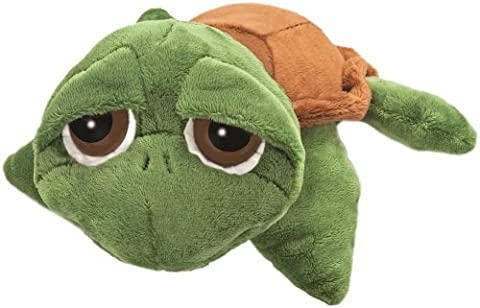 Suki Gifts Little Peepers Turtle Rocky Turtle Soft Boa Plush Toy (Green and Brown, Small)