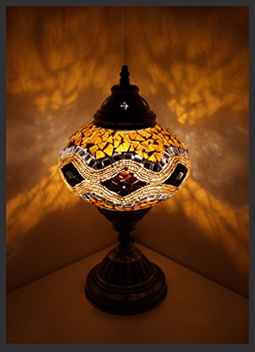 Mosaiklampe Mosaik - Tischlampe L Stehlampe orientalische lampe Gold Samarkand-Lights (Tiffany-tisch-lampe Gold)