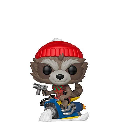 Funko 43334 POP Bobble Vinyl Marvel: Holiday-Rocket Sammelbares Spielzeug, Mehrfarben