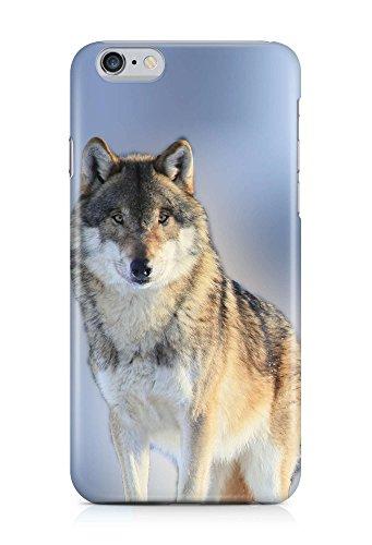 - Knopf-front Hipster (COVER Wolf Winter Tier front Design Handy Hülle Case 3D-Druck Top-Qualität kratzfest Apple iPhone 6 Plus)