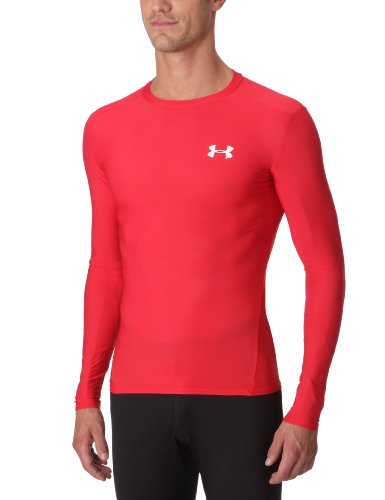 Under Armour Herren T-Shirt HG Compression Longsleeve, red, M (Armour Sleeve-lange Under Unterwäsche Long)