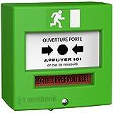 ACIE 221123C Déclencheur manuel 2 contacts Vert