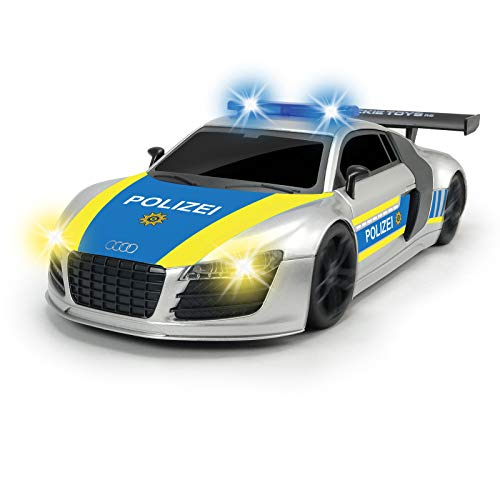 Spielzeug RC Polizeiauto mit Funkfernsteuerung 2,4GHz Spielzeugauto Kinder Sirene Blinklicht Polizeiautos Jungen Auto 6Jahren Polizei ferngesteuert Sound Licht Batterien Fernbedienung Kinderspielzeug
