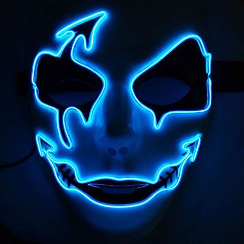 Forart LED Maske Halloween Scary Maske Cosplay Led Kostüm Maske EL Draht Maske Leuchtende Maske für Parteien Festival Kostüm