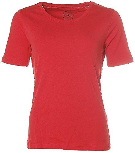 Kitaro -  T-shirt - Collo a U  - Maniche a 3/4 - Donna Mineral Red