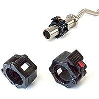 1 Coppia di 2 inch/50mm Quick Release Olimpico Lock-mascella Dimensioni Bilanciere morsetto collare Bar ABS Nero - Manopole Modellata