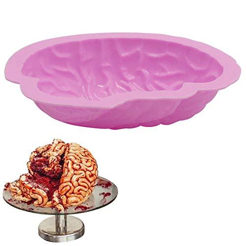 3D Kreative Gehirnform Silikon Kuchen Backenwerkzeuge Kuchen Dekorieren Küche Backenwerkzeuge, Halloween kreative backform (Pops Cake Dekorieren Halloween Für Sie)
