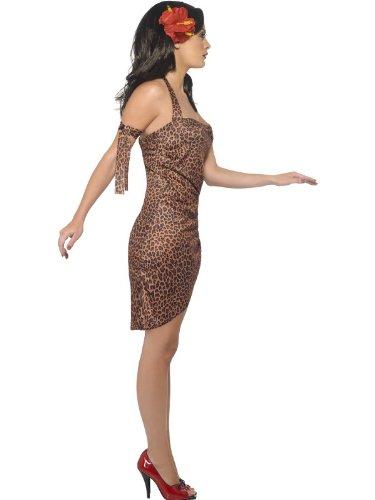 �m Pin Up Stil mit Neckholder-Kleid und Arm Krawatte–Kleine (Jane Tarzan-kostüm)