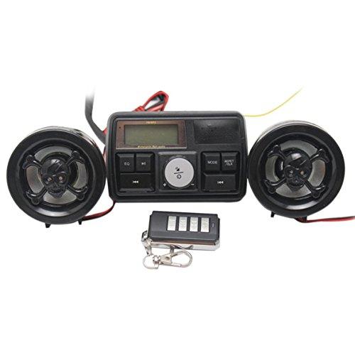 Motorrad Fahrrad FM Radio USB TF MP3 Player Wasserdichte Anti-Dieb LCD Stereo Lautsprecher Fernbedienung Audio Sound System