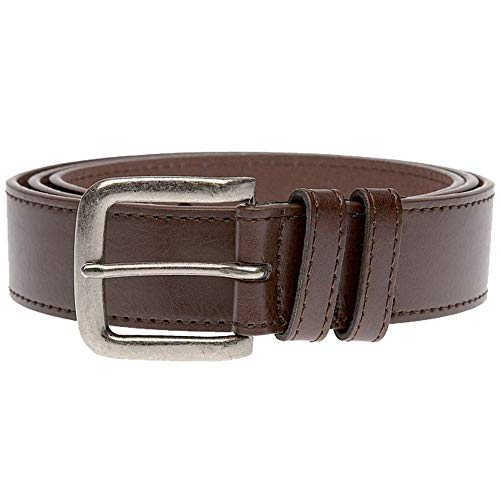 DUKE LONDON ANTIQUE BUCKLE JEANS CEINTURE EN 4.0CM LARGEUR (KS204S) EN MARRON EN TAILLE AU BASSIN 42 POUR 64