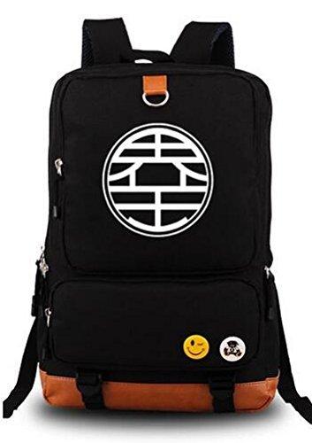 yoyoshome Dragon Ball Z Anime Goku Cosplay Luminous Segeltuch Rucksack Schule Tasche schwarz ()