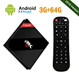 UKSoku EstgoSZ Android 7.1 TV Box, 3GB RAM + 64GB ROM Amlogic S912 Octa-core 64Bits CPU Smart TV Box Support 4K Ultra HD / 2.4GHz + 5GHz Dual WiFi / 1000M LAN Ethernet / H.265 / 3D / Bluetooth 4.1