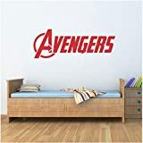 Logo Vinyle Mur Word Decal Marvel Comics Stickers Muraux Décoration de La Maison Salon Chambre D'enfants Mur Chambre Bedroom57x20 cm