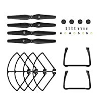 Holy Stone HS700 RC Drone Quadcopter Spare Parts Accessory (4 Spare Blades Set+ 2 Landing Gears )