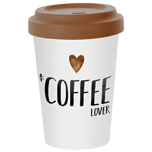 PPD Coffee Lover Bamboo Coffee-To-Go Becher, Kaffeebecher, Pappbecher, Trinkbecher, Bambus-Silikon,...