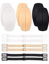 Acizi 6 piezas sujetador correa cojines soporte silicona hombreras protectores almohadillas y antideslizante elástico sujetador correa Clips Holder