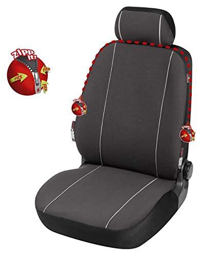 rmg-distribuzione Coprisedile SPECIFICO su Misura Fodere R38 Neri Grigi per Giulietta Copri Sedile Auto Anteriore 1 Pezzo con Cerniere