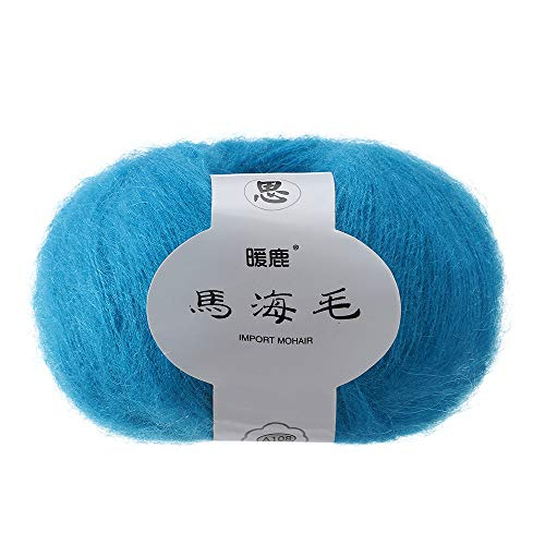Prevently Strickgarne, Plüsch Mohair,Wolle Ma Haimao Langer Haufen Weiches Mohair Stricken Wolle Garn DIY Schal Schal häkeln Thread Supplies (Colour K) -