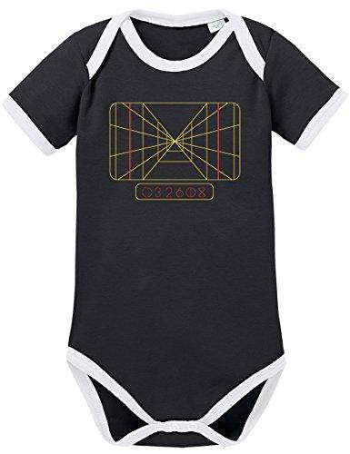 TShirt-People TSP Stay on Target Computer Kontrast Baby Body 68 Schwarz