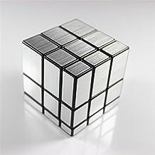 HappyToy ShengShou espejo velocidad cubo 3x3 espejo Mirror Block Puzzle Cubo torcido Magic Cube juguete (plata)