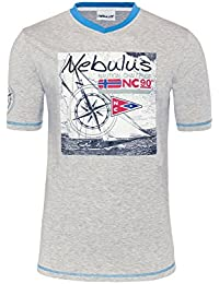 T185 - NEBULUS T-Shirt LINES, V-Ausschnit, Polo-Shirt