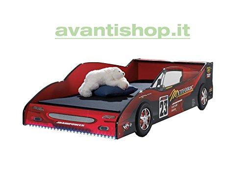 AVANTI-TRENDSTORE-Letto-Auto-da-corsa-in-stile-laccato-lucido-90x200-cm-senza-rete-a-doghe
