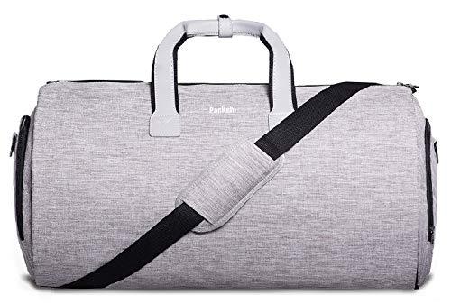 Packshi Reisetasche UND Reise-Kleidersack in 1, Weekender-Tasche, Anzugtasche Reise Seesack für Männer Reisetaschen für Männer Handgepäck Kleidersäcke für die Reise Anzugsack Handgepäcktasche - Leder-reise-kleidersack