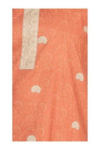 South India Shopping Mall - Hosh Women Orange Floral Dress material