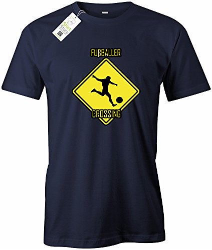 FUSSBALLER CROSSING - HERREN - T-SHIRT Navy