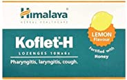 Himalaya Herbals Koflet H, Lemon Flavor, Soothing Relief From Sore Throat Pain, Contains Real Honey, Herbal Lo