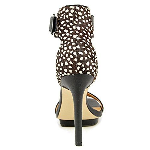 Calvin Klein Vable Haar Pelz Sandale Black/White