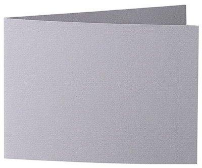 50 Stück // Artoz Serie 1001 Doppelkarten gerippt // Querdoppelt // DIN B6, 338 x 120 mm, hochwertig, graphit