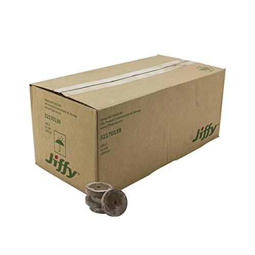 Jiffy-7 Torf-Quelltöpfe Original (1.000 Stück) mit 41mm zur Anzucht von Stecklingen und Sämlingen Aussaat-erde Anzucht-erde Torf-tablette Torfquelltabs inklusive Greenception Wuchsdünger vers. Mengen