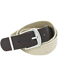 Xeira High quality elastic fabric belts for children available in many colors with leather tail - Black/Red/Beige/Gray/Blue