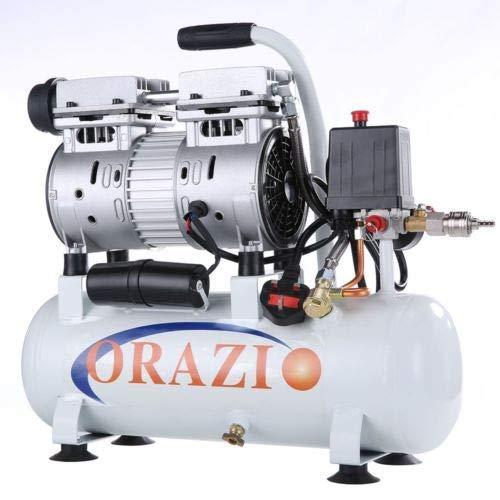 241183E Compressore d'aria silenzioso 65DB 600W 9L per Garage Mobile, Clinica dentale