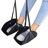 Zubita Reise Fußstütze/Fuß Hängematte/Reise Flugzeug Fußstütze, Portable Fußhängematte zur Entspannung Fußstütze verstellbar ideal für Büro Flugzeuge Reise Zubehör (Zwei) 50 Kg