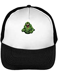 Ghostbusters Angry Slimer Gorras Hombre Snapback Beisbol Negro Blanco bb987781807