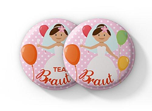Spielehelden Junggesellinnenabschied - 12er Set Buttons mit süßen Ballons für euren JGA