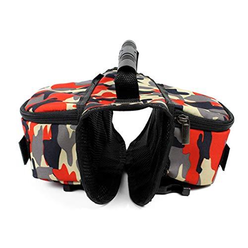 VICTORIE Hund Geschirr Tasche Satteltasche Rucksack Carrier Haustiere für Außen Reise Training Camping Spaziergang Bunt L