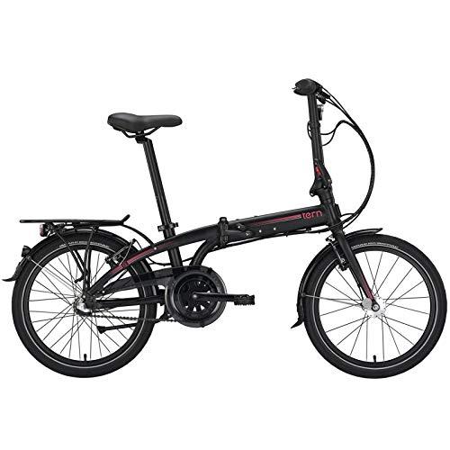 Tern Faltrad Link C7i Fahrrad 7 Gang 20 Zoll Alu Nabenschaltung Shimano Ständer Gepäckträger, CB19PFCO07HDR, Farbe Schwarz