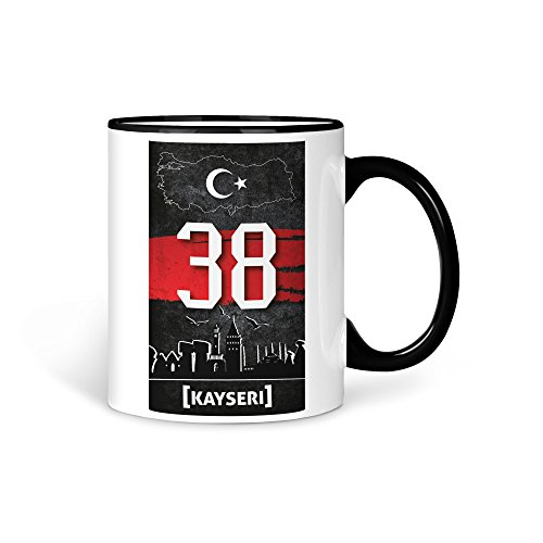 TASSE Kaffeetasse Türkei Kayseri 38 Türkiye Plaka V2