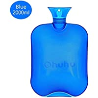 Ohuhu Hot Water Bottle Transparent Classic Rubber Bottle with Knitted Cover, 2000ml 68oz Ohuhu preisvergleich bei billige-tabletten.eu