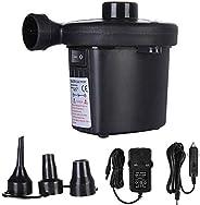 Portable Air Mattress Pump, Hamkaw Quick-Fill Electric Air Pump With 3 Nozzles, Convenient Inflator Deflator F