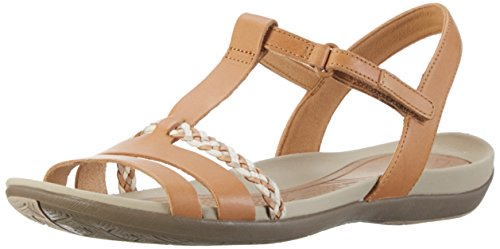 Clarks Tealite Grace, Sandali con Zeppa Donna, Marrone (Light Tan Lea), 41 EU
