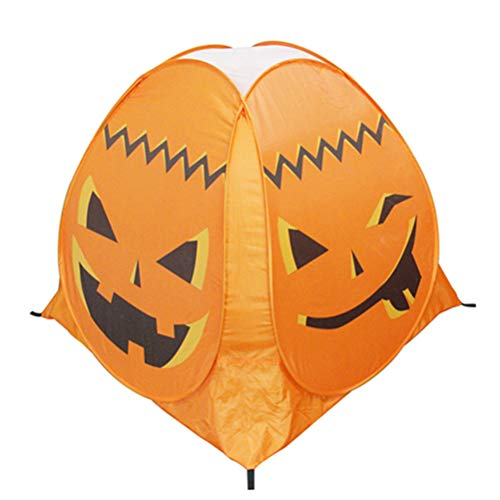 Amosfun Kürbis Zelt Halloween Party Requisiten Kinder Indoor Outdoor Spielhaus Schloss Spiel Zelt Kinder Spukhaus Halloween Ghost Festival Prop (Orange)