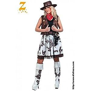 Fyasa 701983-T04 - Disfraz de Chica de Vaca para 12 años de Edad,, Grande