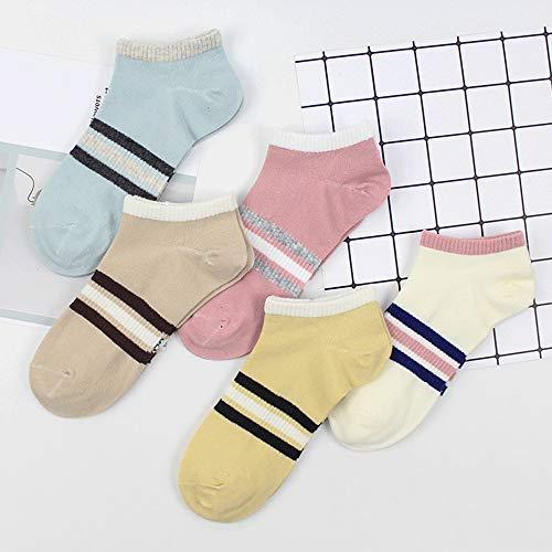 KIOio Spring Love Lady Boat Socken Baumwolle Ms. Shallow Socken Mode Socken (Farbe : No. 2)