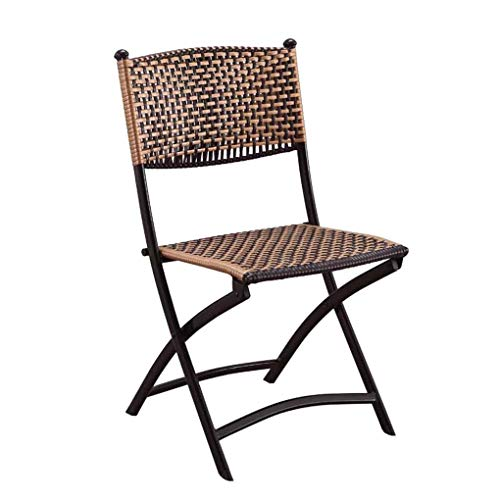 TANGONG Chaise Pliante en Rotin Chaise Dorsale